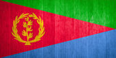 Eritrea Flag on wood background — Stock Photo