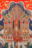 Thai art painting in a temple in Thailand — Стоковое фото