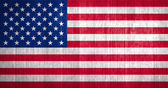 US Flag on wood background — Stock Photo
