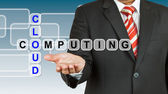 Businessman with wording Cloud Computing — Stock Photo