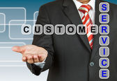 Businessman with wording Customer Service — Stock Photo