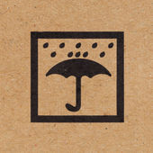 Keep dry icon on paper box background — Foto Stock
