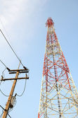 Transmission towers phone. — Stock Photo