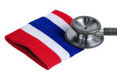 Medical stethoscope and Thailand flag symbol. — Stock Photo