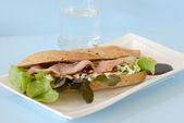 Baguette sandwich — Stock Photo