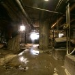 Old abandoned dirty empty scary factory interior — Stock Photo #12415675