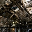 Old abandoned dirty empty scary factory interior — Stock Photo #12415677