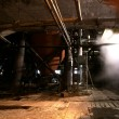Old creepy, dark, decaying, destructive, dirty factory - Stockfoto