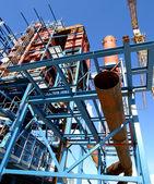 Sanayi bölgesi, şantiye — Stok fotoğraf