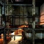 Old creepy, dark, decaying, destructive, dirty factory — Stock Photo #22877990