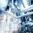 Illustration of Equipment, cables and piping inside power plant — Stock Photo