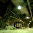 Stock Photo: Old creepy, dark, decaying, destructive, dirty factory