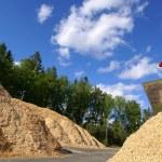 Fuel storage at bio fuel power plant — Stock Photo