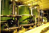 Water treatment tanks at power plant — Stock Photo