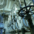 Equipment, cables and piping as found inside of industrial powe — Stock Photo