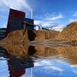 Bio fuel power plant with reflection — Stock Photo
