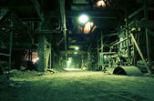Old creepy, dark, decaying, destructive, dirty factory — Stock Photo