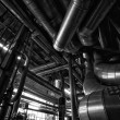Industrial zone, Steel pipelines and equipment — Foto de Stock