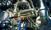 Industrial zone, Steel pipelines and equipment — Foto de Stock