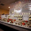 Control room of an old power generation plant — Stock Photo