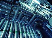 Vannes et conduites en acier industriels — Photo