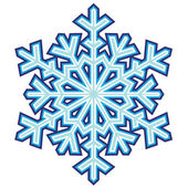 Decorative abstract snowflake. — Stock Vector