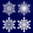 Stock Vector: Decorative abstract snowflake.
