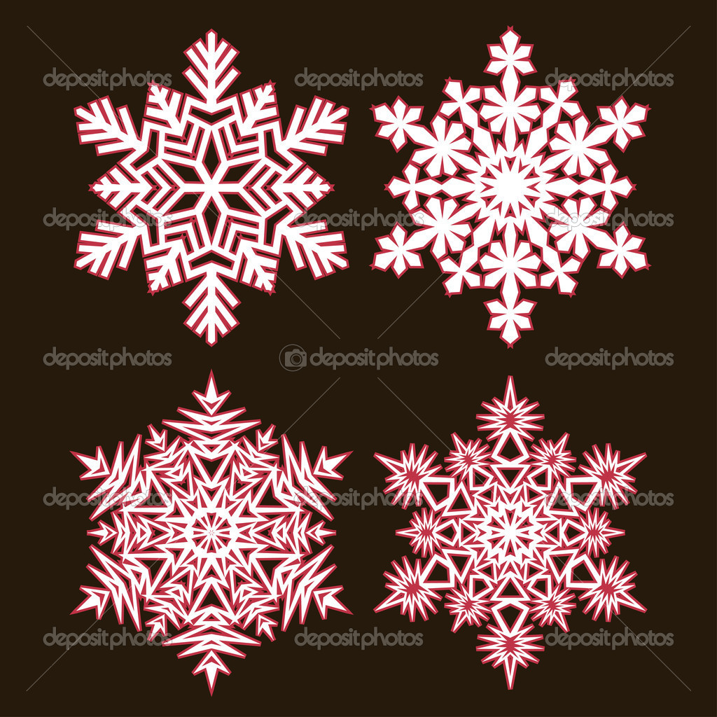 Decorative abstract snowflake. Vector illustration. — Stock Vector #13498738