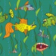 Royalty-Free Stock Vector Image: Fish in the sea. Seamless texture.