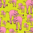 Royalty-Free Stock : Strange pink pig.