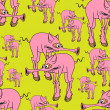 Royalty-Free Stock Vektorgrafik: Strange pink pig.