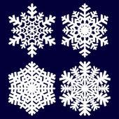 Flocon de neige décoratif abstrait. — Vecteur