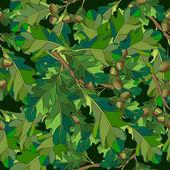 Inconsútil. las hojas y ramas. — Vector de stock