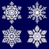 декоративные абстрактный снежинка. — Cтоковый вектор