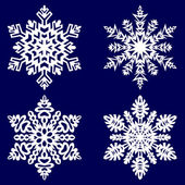 Decorativo abstrato floco de neve. — Vetorial Stock
