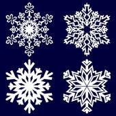 Dekorativa abstrakt snöflinga. — Stockvektor