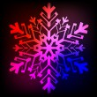 Decorative abstract snowflake. — Stock Vector #14292535