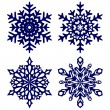Christmas background. Snowflakes. — Stock Vector