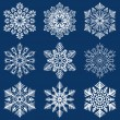 Christmas background. Snowflakes. — Stock Vector #16848839
