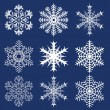 Stock Vector: Christmas background. Snowflakes.