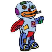 Lite scary doll. — Stockvektor