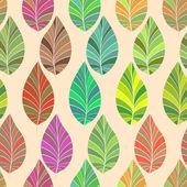Bezszwowe. liście i gałęzie. — Wektor stockowy