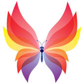 Seamless background of colorful butterflies. — Stock Vector