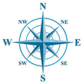Wind rose. The sign on the old maps. — Stock Vector