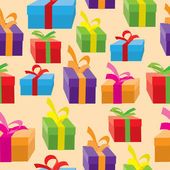 Seamless background of gift boxes. — Stock Vector