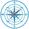 The original clock with wind rose. — Imagens vectoriais em stock