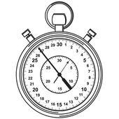 秒表。矢量插画. — 图库矢量图片