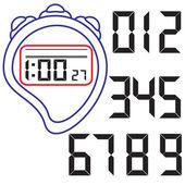 Stopwatch. vectorillustratie. — Stockvector