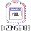 Stock Vector: Stopwatch. Vector illustration.