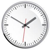 Wandmontierte digitaluhr. — Stockvektor